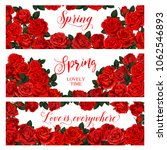 springtime seasonal banners of... | Shutterstock .eps vector #1062546893