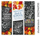 welcome back to school banners... | Shutterstock .eps vector #1062546950