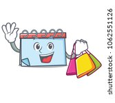shopping calendar character... | Shutterstock .eps vector #1062551126