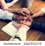 group of christianity people... | Shutterstock . vector #1062552179