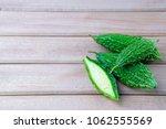closeup view of bitter gourd... | Shutterstock . vector #1062555569