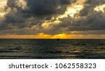 beautiful sunset in the sky for ... | Shutterstock . vector #1062558323