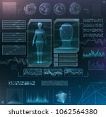 vector interface set. medical... | Shutterstock .eps vector #1062564380