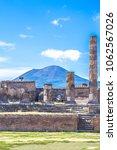 ancient ruins of pompeii  italy | Shutterstock . vector #1062567026