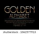 Vector Golden Alphabet. Chic...