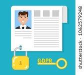 general data protection... | Shutterstock .eps vector #1062579248