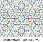 colorful seamless rhombus... | Shutterstock . vector #1062583799