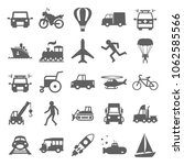 transportation set icon in...