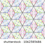 colorful seamless rhombus... | Shutterstock . vector #1062585686