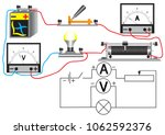 an electrical circuit... | Shutterstock .eps vector #1062592376