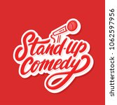 stand up comedy. vector... | Shutterstock .eps vector #1062597956