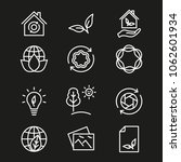 ecology vector icon. white...   Shutterstock .eps vector #1062601934