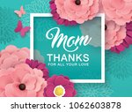 happy mother's day greeting... | Shutterstock .eps vector #1062603878