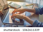 woman hand accountant ... | Shutterstock . vector #1062611339