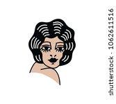girl illustration traditional... | Shutterstock .eps vector #1062611516