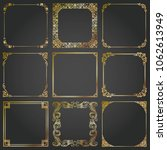 decorative gold frames and... | Shutterstock .eps vector #1062613949