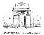 cartoon sketch drawing... | Shutterstock .eps vector #1062622610