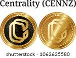 set of physical golden coin...   Shutterstock .eps vector #1062625580
