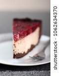cheesecake with chocolate crumb ... | Shutterstock . vector #1062634370