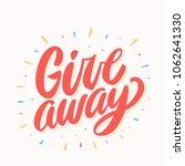 giveaway banner. vector... | Shutterstock .eps vector #1062641330