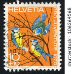 switzerland   circa 1970  stamp ... | Shutterstock . vector #106264568