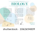 template design for biology... | Shutterstock .eps vector #1062654839