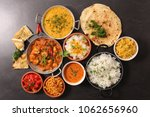 selection of indian food | Shutterstock . vector #1062656960