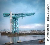 Small photo of The large Titan crane that sits alone at the now demolished site of John Brown's shipyard in Clydebank. The crane was the first of its kind in the world.