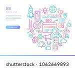 search engine optimization...   Shutterstock .eps vector #1062669893