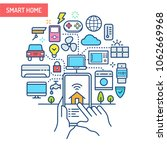 smart home  iot  conceptual... | Shutterstock .eps vector #1062669968