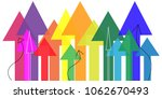 growth concept  colorful arrows ... | Shutterstock .eps vector #1062670493