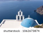 orthodox church overlooking the ...   Shutterstock . vector #1062673874