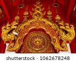 the roof at wat pan ping in... | Shutterstock . vector #1062678248