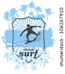 surf shield with rider and... | Shutterstock .eps vector #106267910