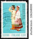 finland   circa 1972  a stamp... | Shutterstock . vector #106268000