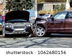 collision of two cars  the... | Shutterstock . vector #1062680156