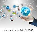 hand holding business diagram | Shutterstock . vector #106269089