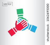 team hands together  business... | Shutterstock .eps vector #1062695000