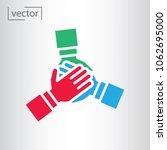 team hands together  business... | Shutterstock .eps vector #1062695000