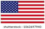 american flag for independence... | Shutterstock .eps vector #1062697940