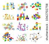 kids building blocks vector...   Shutterstock .eps vector #1062702758