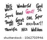 great job good super bravo.... | Shutterstock .eps vector #1062703946
