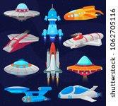 rocket vector spaceship or... | Shutterstock .eps vector #1062705116