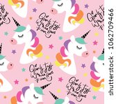 unicorns and typography... | Shutterstock .eps vector #1062709466