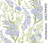 floral seamless pattern with... | Shutterstock . vector #1062709493