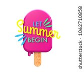 summertime colorful ice lolly... | Shutterstock . vector #1062710858