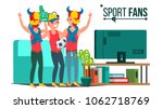 sport fans group vector. fan... | Shutterstock .eps vector #1062718769