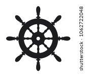 ship steering wheel icon on... | Shutterstock .eps vector #1062722048