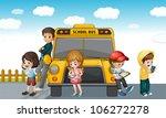 illustration of kids standing... | Shutterstock . vector #106272278