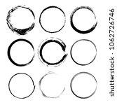 set of black round grunge... | Shutterstock .eps vector #1062726746